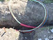 Výkopové práce pro optický kabel